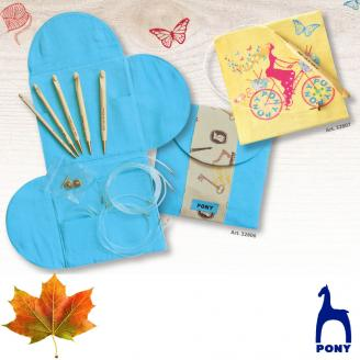ABSOLUTE estuche de ganchillos intercambiables MAPLE - PONY